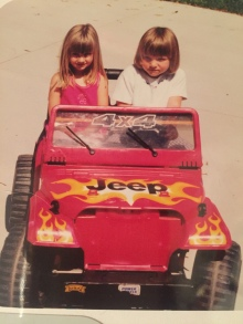 Amy driving her cousin Mariette